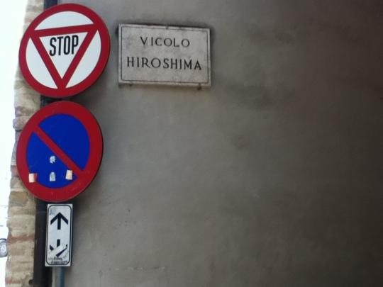 ci troviamo in vicolo Hiroshima