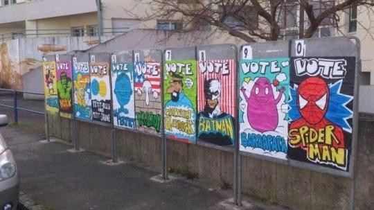 elezioni dei supereroi